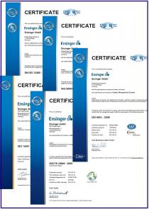 Сертификат Ensinger